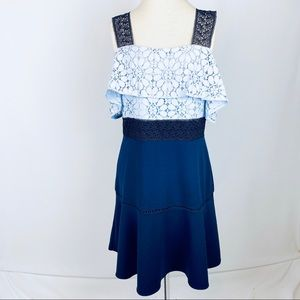 Nanette by Nanette Lepore Blue Lace Dress